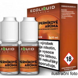 Liquid Ecoliquid Premium 2Pack Gingerbread tobacco 2x10ml - 0mg (Perníkový tabák)