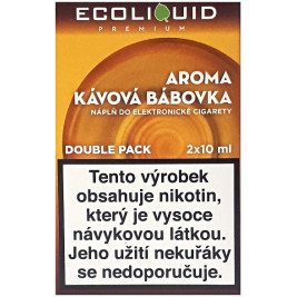 Liquid Ecoliquid Premium 2Pack Coffee Cake 2x10ml - 0mg