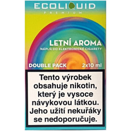 Liquid Ecoliquid Premium 2Pack Summer flavor 2x10ml - 0mg