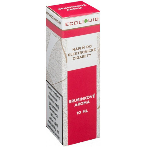 Liquid Ecoliquid Cranberry 10ml - 3mg (Brusinka)
