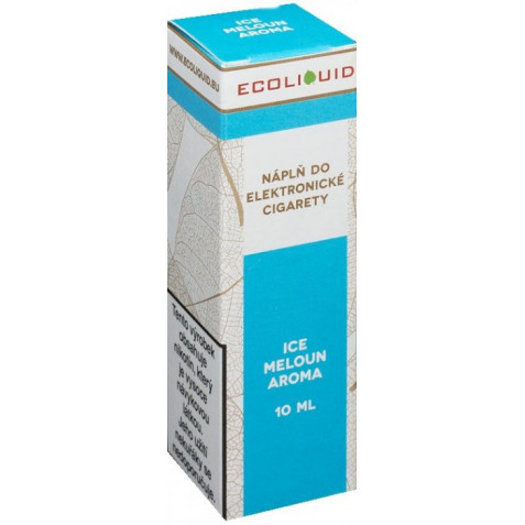 Liquid Ecoliquid ICE Melon 10ml - 12mg (Svěží meloun)