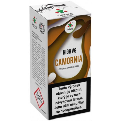 Liquid Dekang High VG Camornia 10ml - 3mg (Tabák s ořechy)
