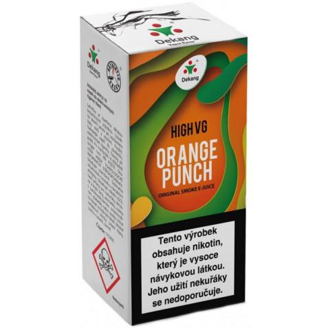 Liquid Dekang High VG Orange Punch 10ml - 6mg (Sladký pomeranč)