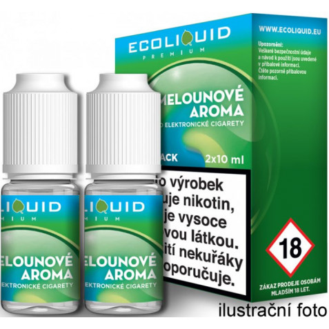 Liquid Ecoliquid Premium 2Pack ICE Melon 2x10ml - 12mg (Svěží meloun)