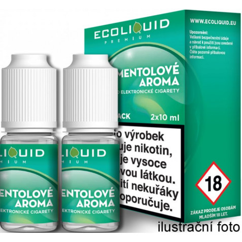 Liquid Ecoliquid Premium 2Pack Menthol 2x10ml - 6mg