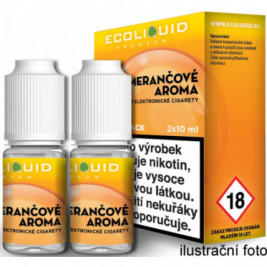 Liquid Ecoliquid Premium 2Pack Orange 2x10ml - 6mg (Pomeranč)