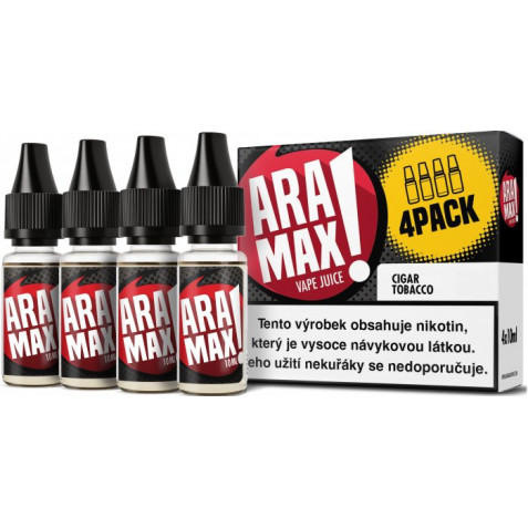 Liquid ARAMAX 4Pack Cigar Tobacco 4x10ml-6mg