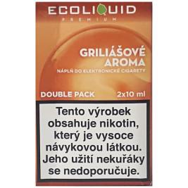 Liquid Ecoliquid Premium 2Pack Griliášové aroma 2x10ml - 6mg