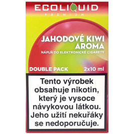 Liquid Ecoliquid Premium 2Pack Strawberry Kiwi 2x10ml - 6mg