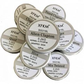 XFKM Clapton SS316 předmotané spirálky 0,3ohm 10ks